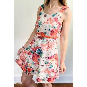 NWT Three Pink Hearts Trixxi Floral Print Dress